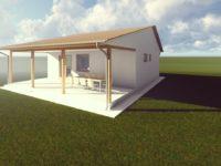 Az új tervek első munkaközi látványtervei - Keller Családi áz, Balatonmáriafürdő - dél-keleti nézet