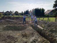Alapozás a földfelszínig - Balatonmáriafürdő, Keller Családi Ház 2018-09-19