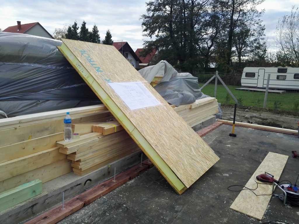SIP-falszerkezet fogadóalap előkészítés Keller Családi Ház, Balatonmáriafürdő 2018-11-12